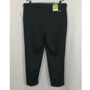 NWT $60 Izod Golf 38 x 30 Black Flat Front Pants